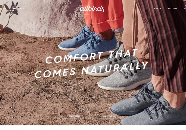 allbirds The World's Most Comfortable Shoes.