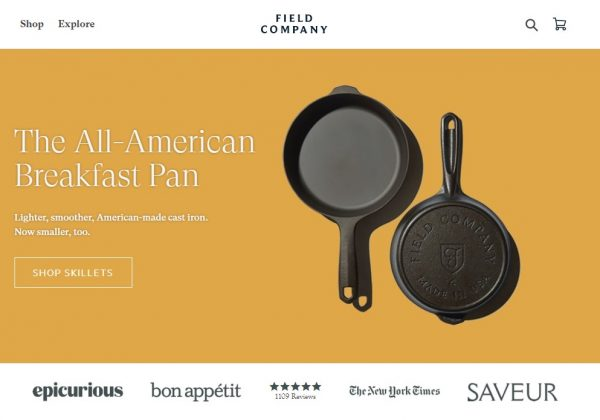 Smoother, Lighter Cast Iron Skillets.