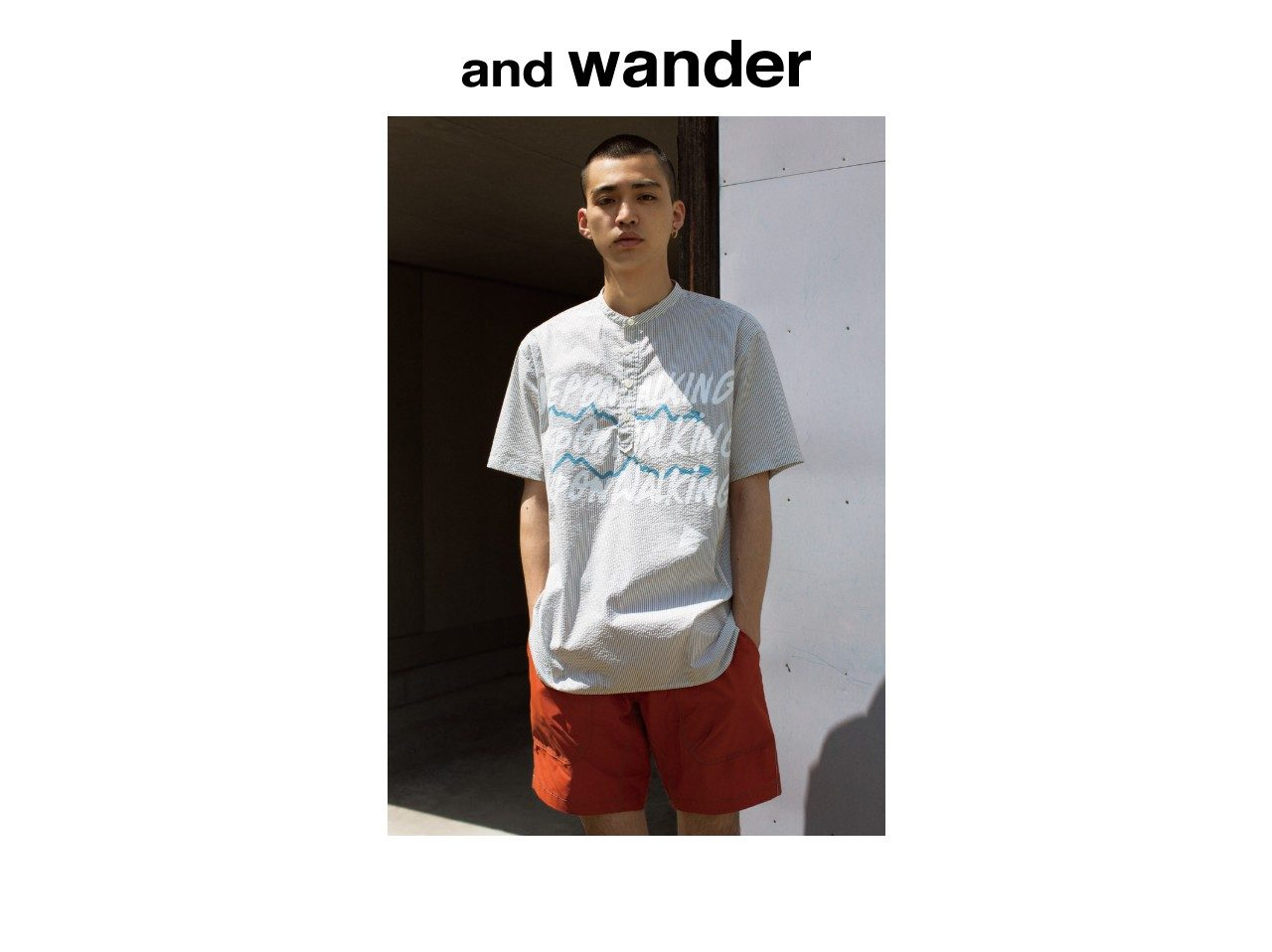And wander is a men's contemporary fashion and streetwear brand based in Tokyo (Japan) launched in Spring-Summer 2011.