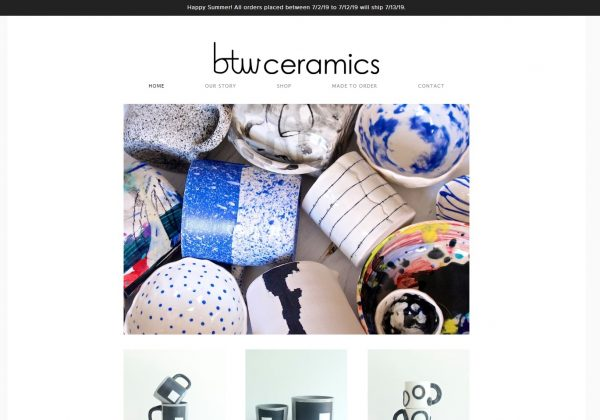 Ceramics and Pottery Handmade in Brooklyn by Brooke T. Winfrey.