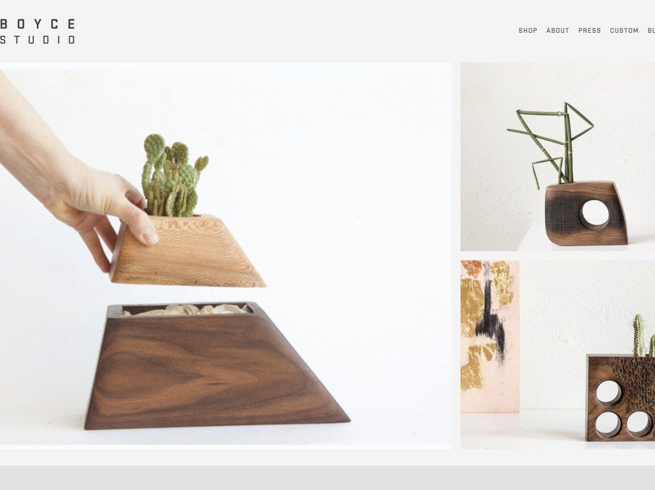 Boyce Studio planters Handmadde in LA